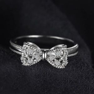 - New 14K Gold Plated 925 Bow  Ring